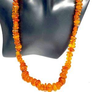 Vintage Honey Amber Necklace